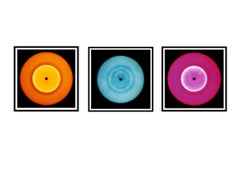 Vinyl Collection - Orange, Blue, Pink Trio - Pop Art Color Photography