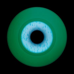 Vinyl Collection, Other Side (Green) - Conceptual Pop Art Color Photography