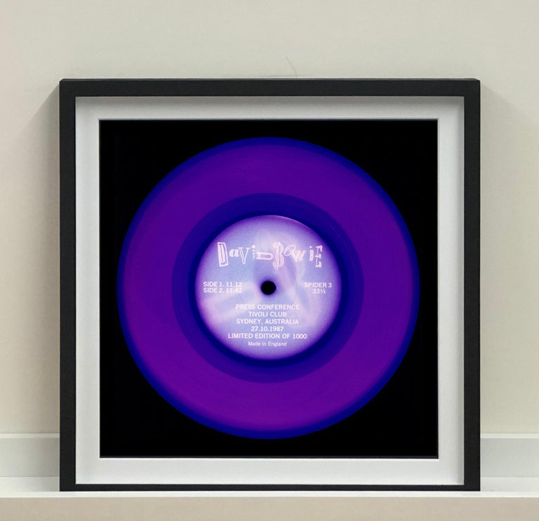 Vinyl Collection, Press Conference - Purple, Conceptual, Pop Art, Photography - Print by Heidler & Heeps
