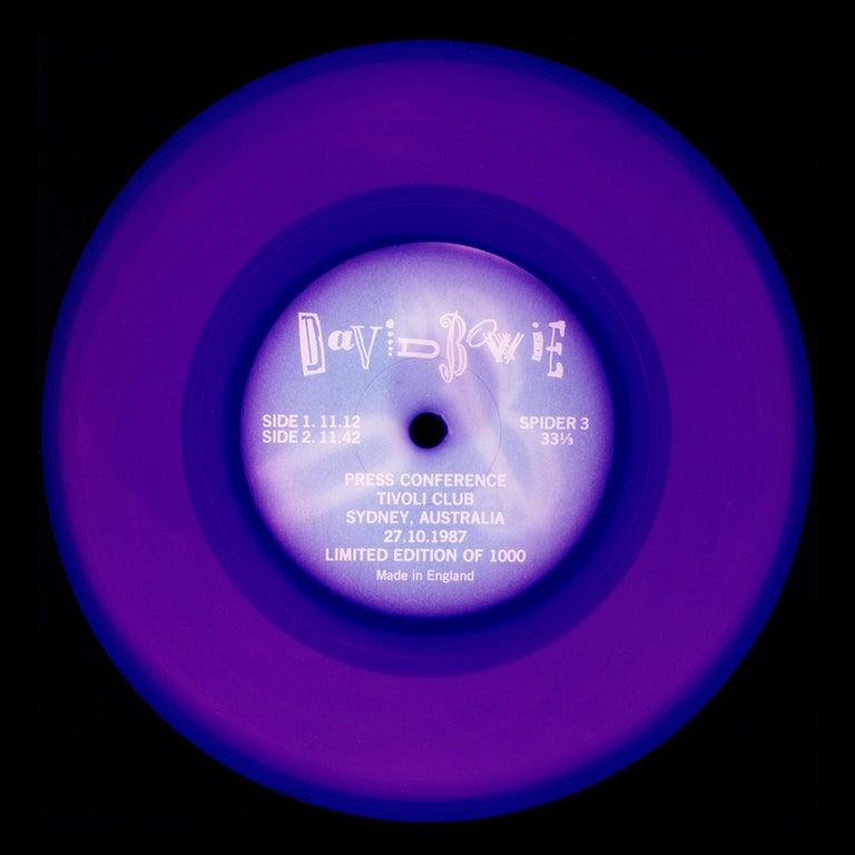 Heidler & Heeps Print - Vinyl Collection, Press Conference - Purple, Conceptual, Pop Art, Photography