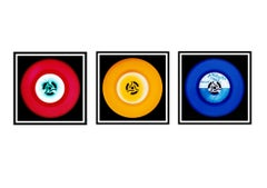 Vinyl Collection - Red, Yellow, Blue Triptych - Pop Art Color Photography