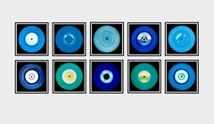 Vinyl Collection Ten Piece Blues Installation - Pop Art Color Photography