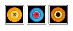 Vinyl Collection - Yellow, Blue, Orange Trio - Pop Art Color Photography