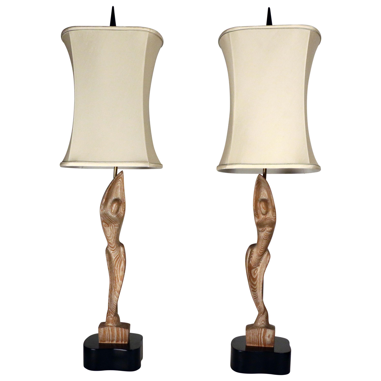 Heifetz Mid-Century Modern Pair of Table Lamps