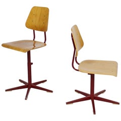 Height Adjustable School Chairs by Embru 1960s Switzerland