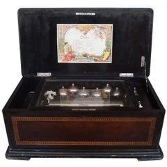 Height Airs Swiss Cylinder Music Box, circa 1880