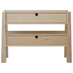 Heilner Console Table, Solid Maple Storage with Drawers, Occasional Side Table