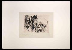 The Embroiderer - Original Etching by Heimieli Wolff - 1920