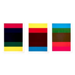 Untitled, Triptych of Three Screenprints, Abstract Art, 20th Century