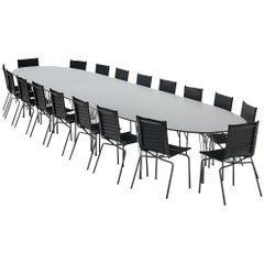 Hein & Mathsson Superellipse Conference Table and 18 van Severen Leather Chairs