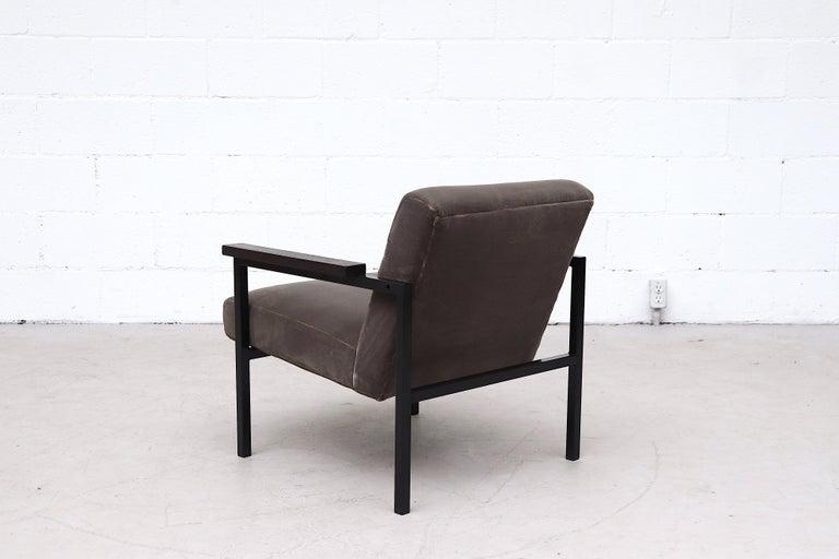 Dutch Hein Stolle Attributed Velvet Lounge Chair