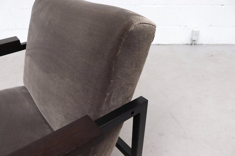Late 20th Century Hein Stolle Attributed Velvet Lounge Chair