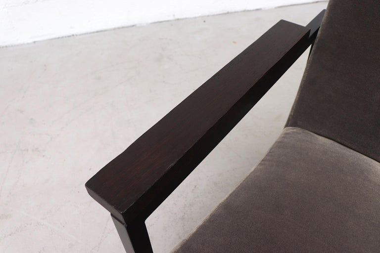 Hein Stolle Attributed Velvet Lounge Chair 1