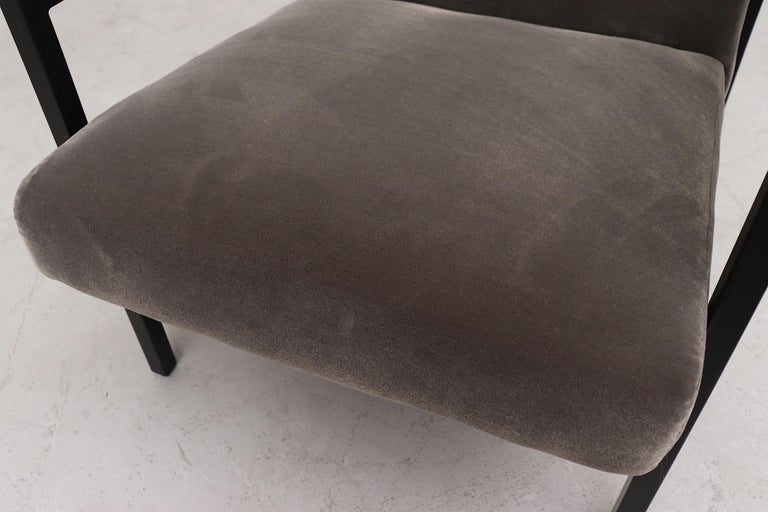 Hein Stolle Attributed Velvet Lounge Chair 2