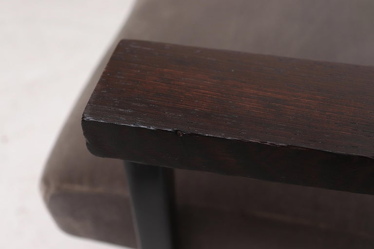Hein Stolle Attributed Velvet Lounge Chair 3