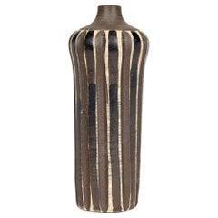 Heiner Hans Körting German Bauhaus Black & Brown Glazed Pottery Vase