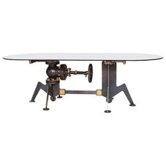 Heino Schmitt, Observation, Steel and Glass Industrial Steampunk Table