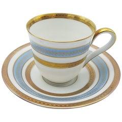 Heinrich Bavaria Porcelain Coffee-Service, 12-Piece Gold Rimmed Bone China Set