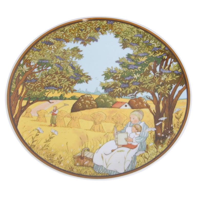 "Heinrich Germany Villeroy & Boch ""Herbst"" Collector Porcelain Decorative Plate For Sale"