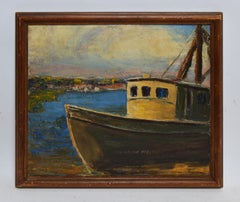 View of a Florida Shrimp Boat by Heinrich Pfeiffer