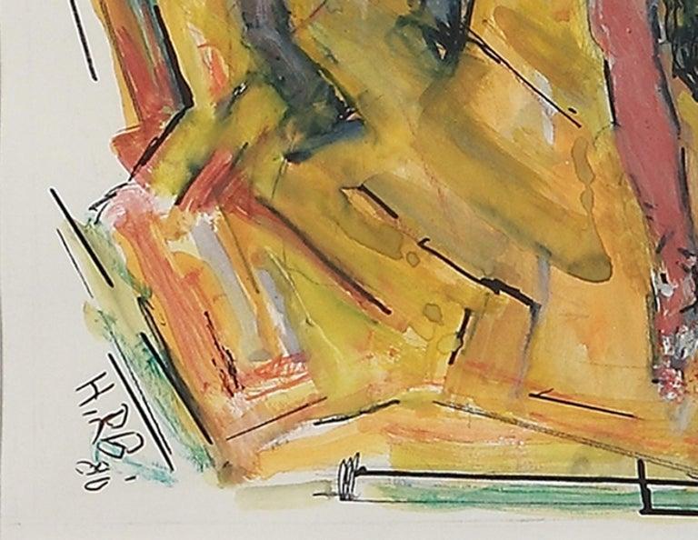 Oil on hardboard, 1979 by Heinrich Richter-Berlin ( 1884-1981 ), Germany. Monogrammed and dated lower left: Richter-Berlin, Nov. 79. Framed. Height: 17.32 in ( 44 cm ) Width: 16.93 in ( 43 cm )