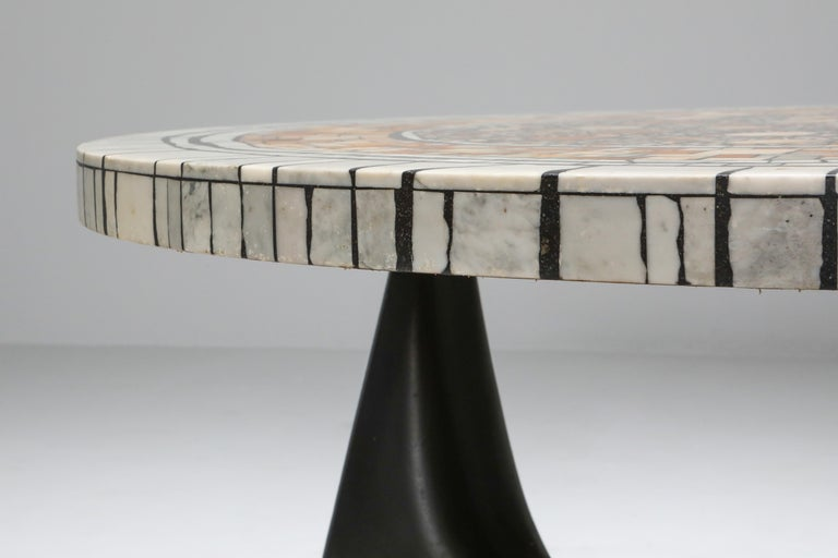 Heinz Lilienthal 'Chartre' Marble Mosaic Coffee Table For Sale 3