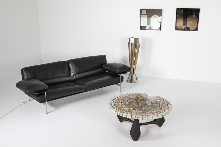 Heinz Lilienthal 'Chartre' Marble Mosaic Coffee Table For Sale 4