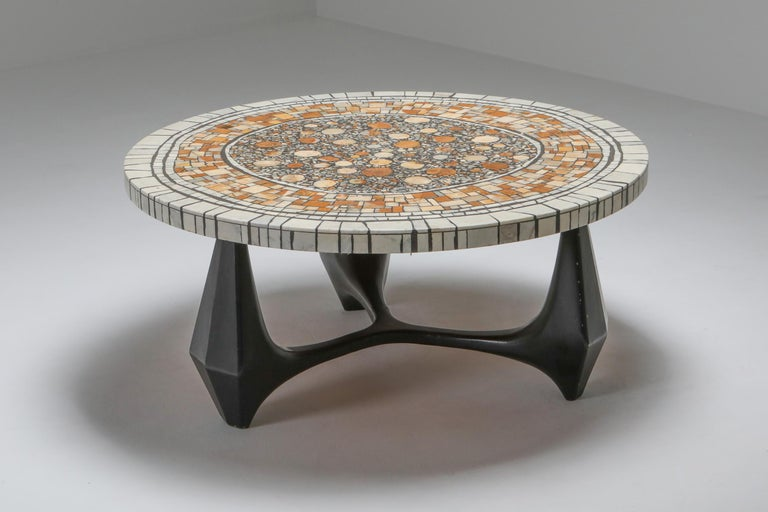 Heinz Lilienthal 'Chartre' Marble Mosaic Coffee Table In Good Condition For Sale In Antwerp, BE