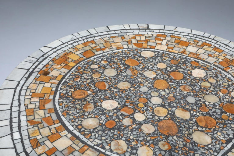 20th Century Heinz Lilienthal 'Chartre' Marble Mosaic Coffee Table For Sale