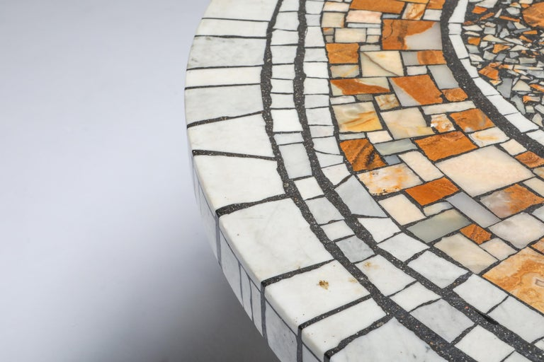 Heinz Lilienthal 'Chartre' Marble Mosaic Coffee Table For Sale 1