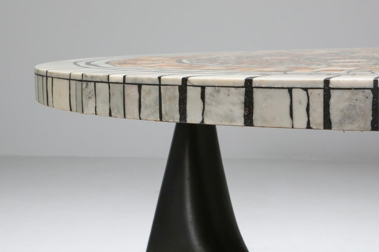 Heinz Lilienthal 'Chartre' Marble Mosaic Coffee Table For Sale 2