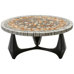 Heinz Lilienthal 'Chartre' Marble Mosaic Coffee Table