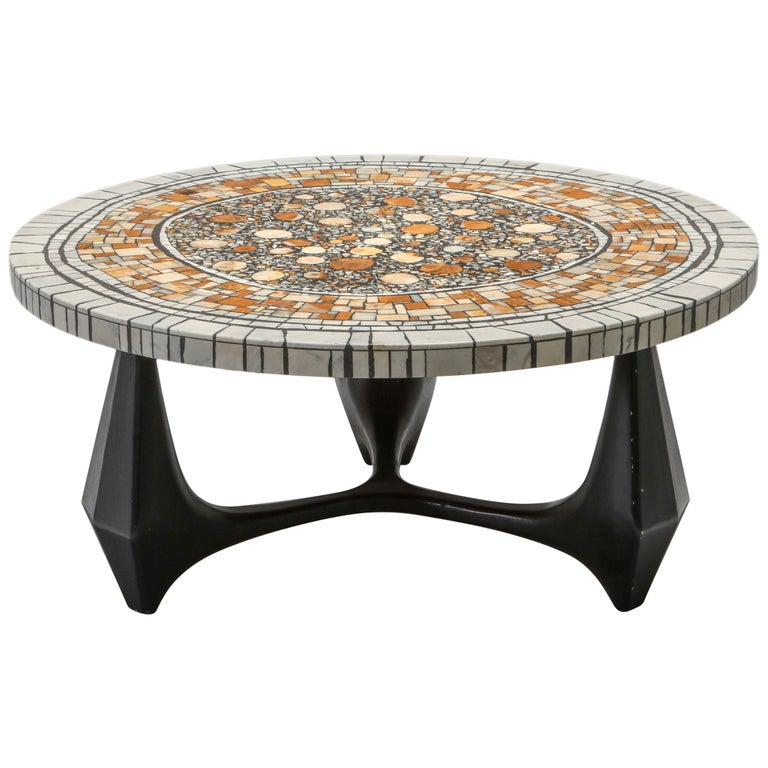 Heinz Lilienthal 'Chartre' Marble Mosaic Coffee Table For Sale