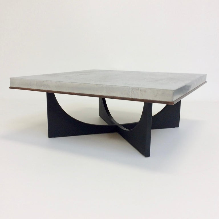 Heinz Lilienthal Etched Metal Coffee Table, circa 1970, Germany For Sale 9