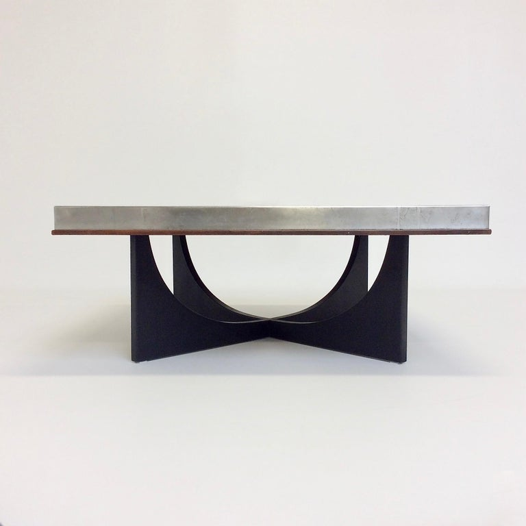 Heinz Lilienthal Etched Metal Coffee Table, circa 1970, Germany For Sale 1