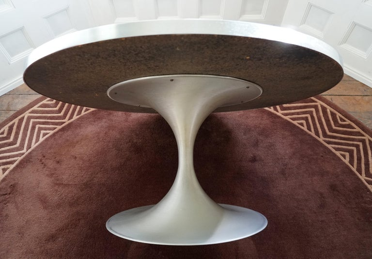 Heinz Lilienthal Tulip Table, Coffee Table with Slate and Etched Steel Tabletop For Sale 9
