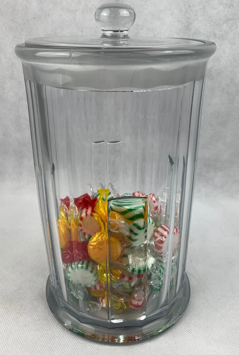 20th Century  Apothecary Jar with Cover made for John Hood Co., Boston by Heisey Glass For Sale