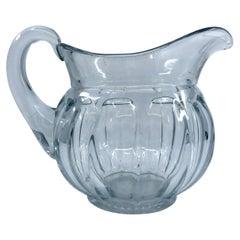 Paneled American glass pitcher