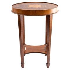 Hekman Furniture Inlaid Mahogany Side Table