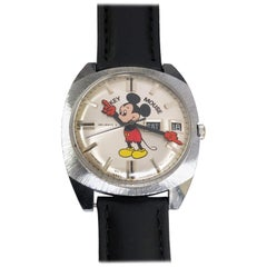 Helbros 1970 Mickey Mouse Mechanical Wristwatch