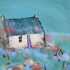 Adabrock View - Contemporary Landscape Painting by Helen Acklam