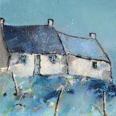 Bothain Gorm - Contemporary Landscape Painting by Helen Acklam