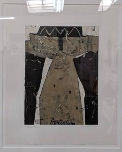 Bronze Kimono- Abstract Expressionist Kimono Painting