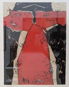 Red Kimono- Abstract Expressionist Kimono Painting