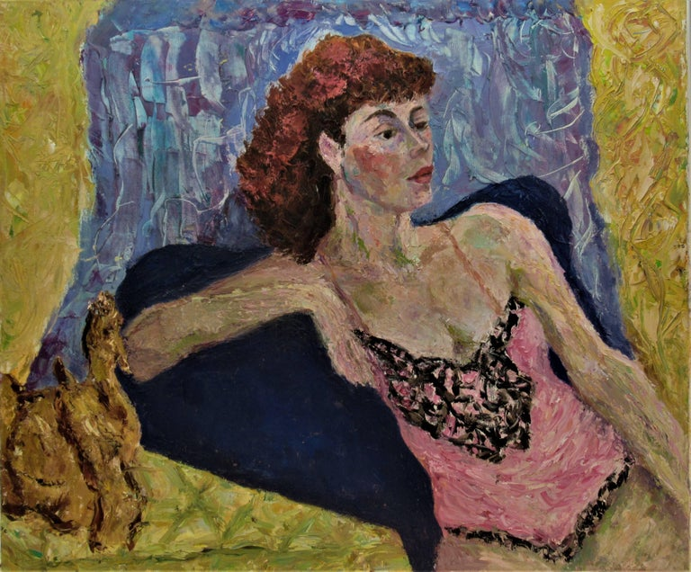 Helen Director Figurative Painting - Untitled, Woman posing