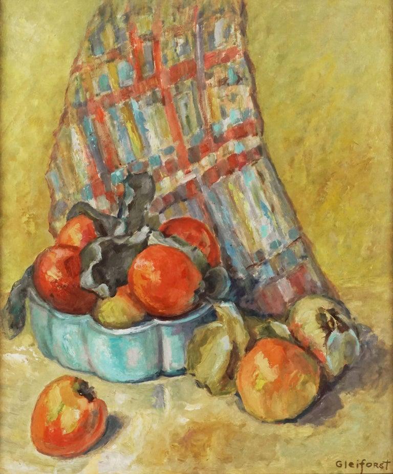 Mid Century Fuji Apples Still Life  - Painting by Helen Enoch Gleiforst