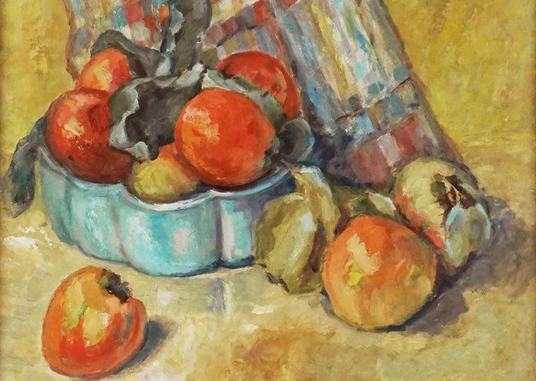 Mid Century Fuji Apples Still Life  - Fauvist Painting by Helen Enoch Gleiforst