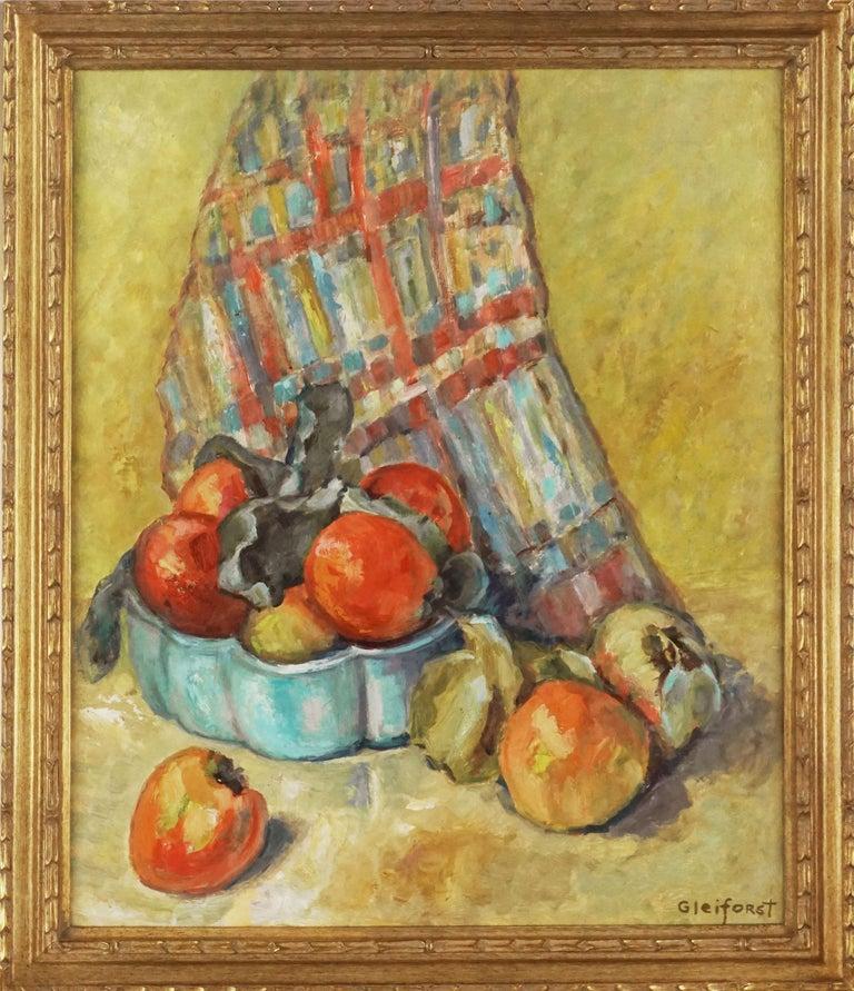 Helen Enoch Gleiforst Still-Life Painting - Mid Century Fuji Apples Still Life