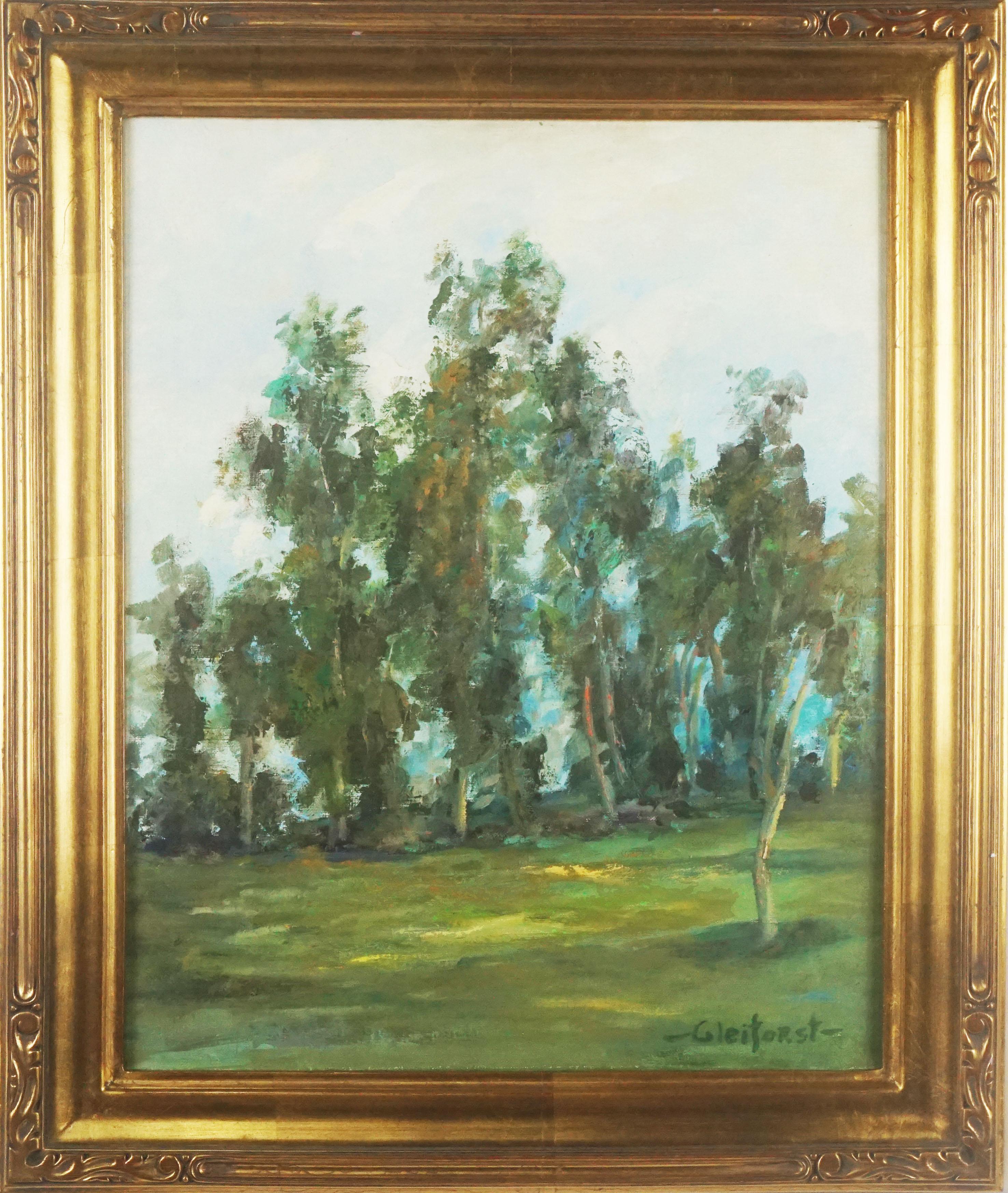 Mid Century  California Landscape --Eucalyptus Grove in the Morning