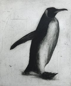 Helen Fay, Strolling, Penguin Art, Limited Edition Print, Affordable Art